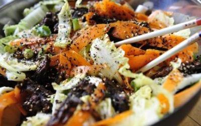 Sticky Pork Salad